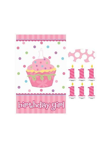 1st Birthday 'Sweet Lil' Cupcake Girl' Party Game Poster (1ct)
