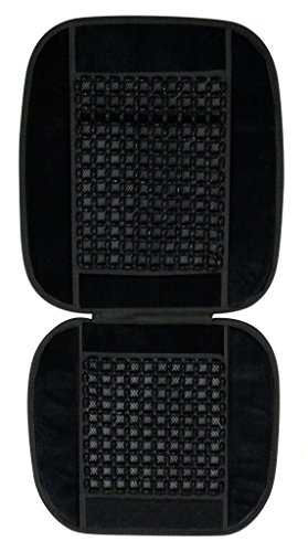 Vheelocityin 70030 Car Wooden Bead Seat Cushion with Black Velvet Border