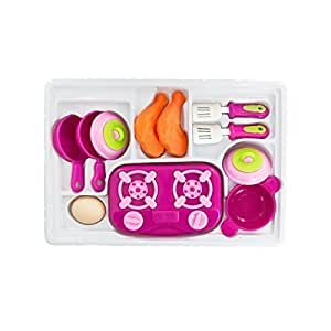 Mini kitchen play set with stove top for Kitchen set for 3 year old