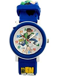 COSMIC ANALOG DESIGNER KIDS WATCH- BEN 10 IMAGE- BLUE STRAP