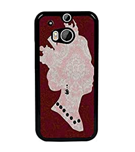 PrintDhaba Queen D-4396 Back Case Cover for HTC ONE M8 (Multi-Coloured)
