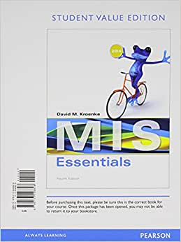 MIS Essentials, Student Value Edition (4th Edition)