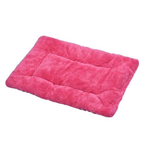 SUPPION Small Pet Dog Cat Soft Warm Sleep Mat, Blanket Cushion Dog Cat Bed (Hot Pink)