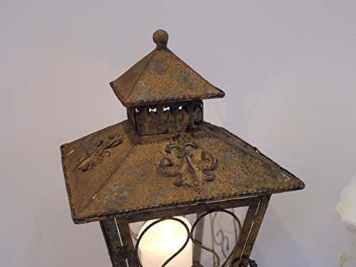 Rustic Garden Candle Lantern - Antique Victorian Style - Great Shabby Chic Gift!