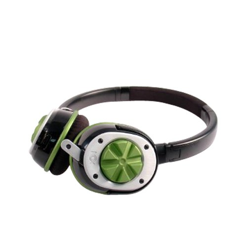 Nox Audio Specialist Gaming Headset (Green) for listening to music on your iPod and iPhone as well as gaming, Xbox 360 and Sony PS3; Skype or chatting on your PC.