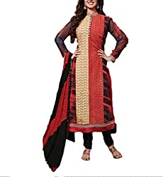 A R Fashion Hub Women's Georgette Unstitched Dress Material(308.a_MultiColor_FreeSize)