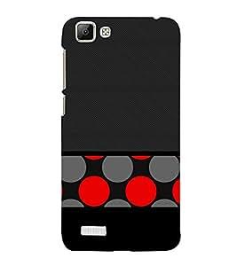 Black Red Dotted Art 3D Hard Polycarbonate Designer Back Case Cover for VIVO V1