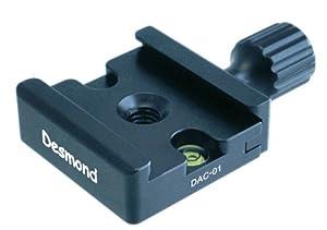 Desmond DAC-01 50mm QR Clamp 3/8-inch w 1/4-inch Adapter Arca Compatible for Tripod Head