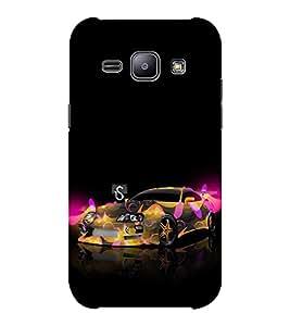 EPICCASE frenzy car Mobile Back Case Cover For Samsung J1 Ace (Designer Case)