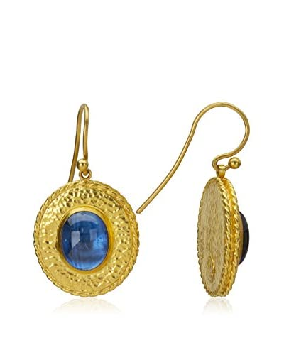 Gurhan Renaissance 24K Gold and Blue Kyanite Earrings