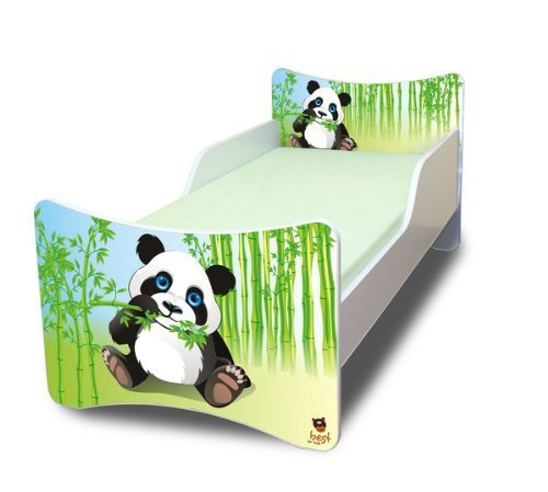 best for kids kinderbett 90x200 ohne matratze panda. Black Bedroom Furniture Sets. Home Design Ideas