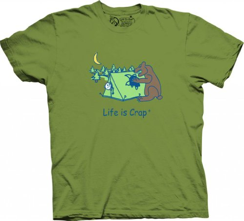 Life is Crap - Camping Bear-M (Men Camper Life Is Good compare prices)