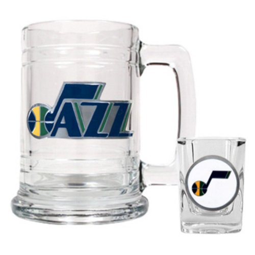 Nba Utah Jazz Boilermaker Set - Primary Logo front-620823