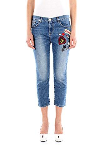 Jeans Pinko Donna Cotone Blu Denim 1J100FY1AUG28 Blu 28