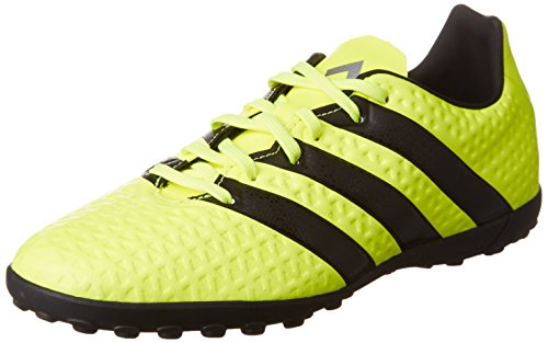 Adidas Ace 16.4 Tf, Scarpe da Calcio Bambino, Giallo (Solar Yellow/Core Black/Silver Metallic), 32 EU