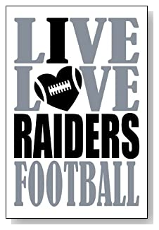 Live Love I Heart Raiders Football lined journal - any occasion gift idea for Oakland Raiders fans from WriteDrawDesign.com