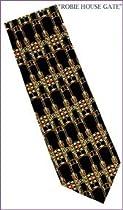 Frank Lloyd Wright Robie House Gate Design Silk Tie 1