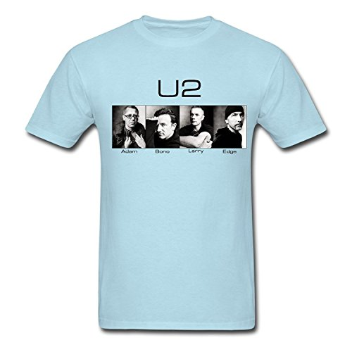 Special U2 Band Poster T Shirt For Uomo Sky blue X-Large