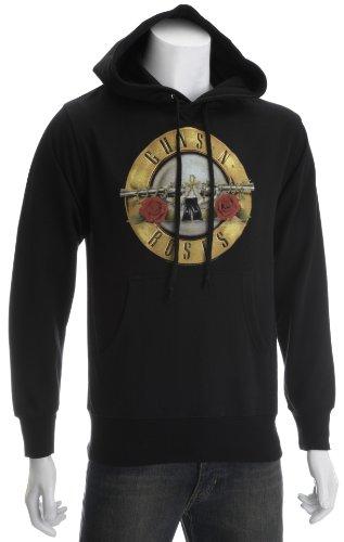 Guns N Roses Bullet Men's Hoodie Black X Large