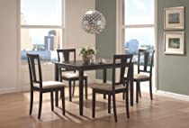 Big Sale Coaster 5pc Casual Dining Table and Chairs Set in Black Finish
