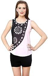 ShilpKala Women's Sleeveless Top (skt3010s, Pink, Small)