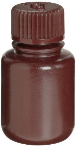 Nalgene Amber Narrow-Mouth Economy Environmental Sample Bottle, HDPE, 30mL (Case of 72)
