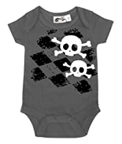 Argyle Skull One Piece Charcoal Small (3-6 months)