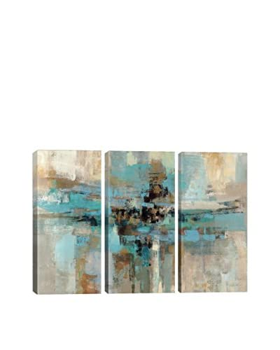Silvia Vassileva Morning Fjord Gallery Wrapped Triptych Canvas Print