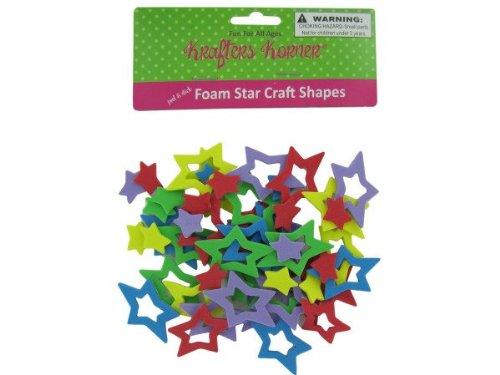 Foam Star Craft Shapes - Case of 24