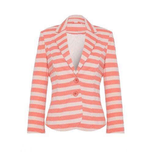 Vila - Persis Striped estate Blazer femminile, Corallo, taglia S 38