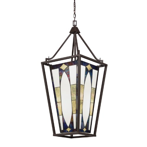 Art Glass Foyer Light : Kichler lighting denman lt foyer pendant olde