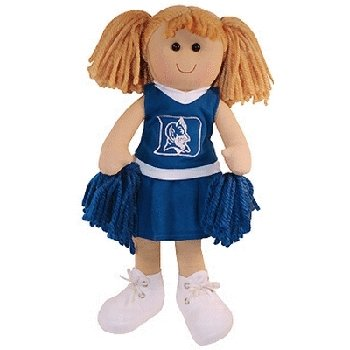 NCAA Duke Blue Devils Large Plush Cheerleader Rag Doll at Amazon.com