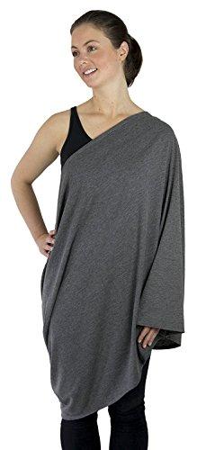 Kiddo-Care-Nursing-Cover-Infinity-Nursing-Scarf-for-Breastfeeding-Dashing-Dark-Grey