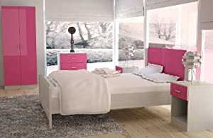 Pink High Gloss Trio Bedroom Furniture Set Best Offers Are You Looking For Bedroom Furniture Sale