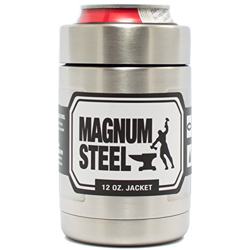 12 oz Steel Can Cooler | Double Wall Vacuum Insulated Thermos Beverage Cooler | Fits All Standard 12 oz Cans and Bottles