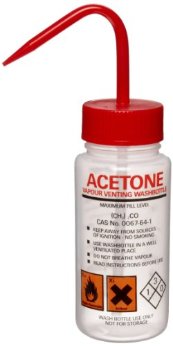 Azlon 506455-0001 250Ml Driplok Safety Vented Acetone Wash Bottle (Case Of 5) front-841074