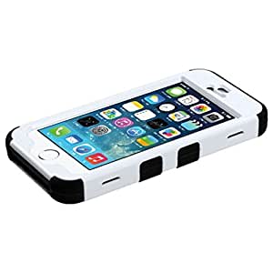 MyBat iPhone 5S/5 TUFF Hybrid Phone Protector Cover with Stand - Retail Packaging - Black/Red