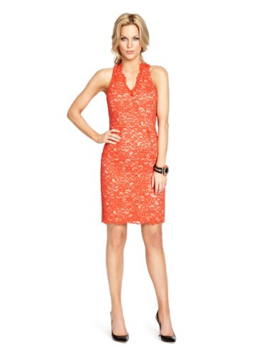 GUESS by Marciano Ettie Lace Dress, MANDARIN RED (2)