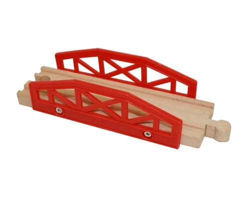 Wooden Train Track Bridge Piece - By Right Track Toys - 100% Compatible with All Major Brands including Thomas Wooden Railway System