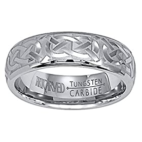 Wedding Ring 101 Tungsten Carbide Artcarved Grecian 6mm