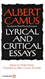 img - for Lyrical and Critical Essays (Vintage) book / textbook / text book