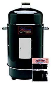 Brinkmann 852-7080-V Gourmet Charcoal Smoker and Grill with Vinyl Cover, Black