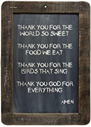 Framed Prayer Blackboard - Thank You God - 13-3/4\