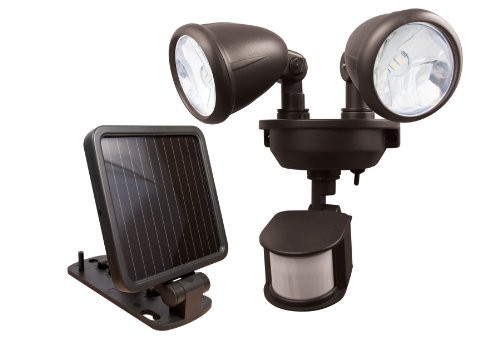 Maxsa 44216 Dual-Head Solar Spotlight, Dark Bronze