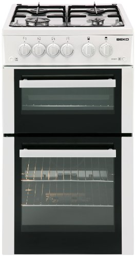 Beko BDG582W 50cm Wide Double Cavity Gas Cooker White