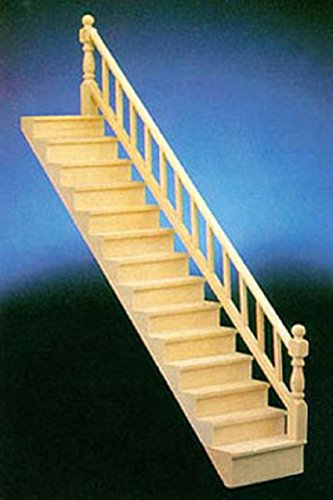 Dollhouse Miniature Straight Staircase Kit Hardware Building Materials Stairc