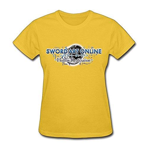 xcarmen Sword Art Online Hollow realizzazione maglietta donna cotone Yellow XXL