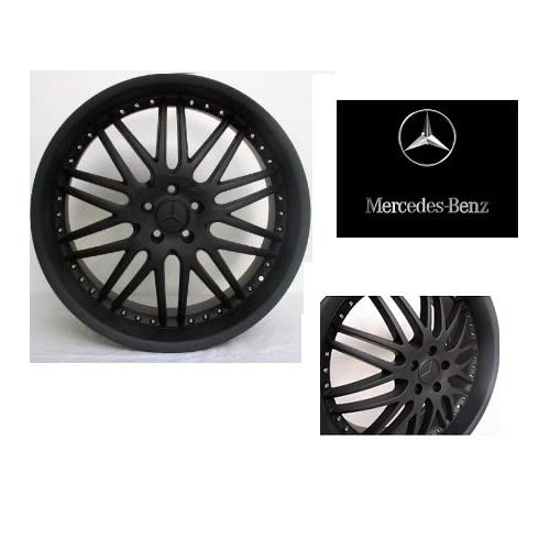 22 / inch Wheels/Rims Mercedes Benz MBZ CL Class CL550 CL600 CL63 CL65 (Staggered 22x9.5/10.5) set (4 wheels) FLAT BLACK