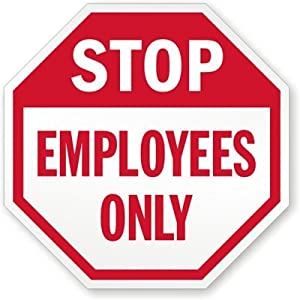 Wild image inside printable employees only sign
