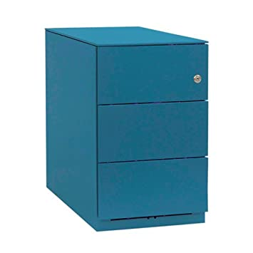 Bisley NW359M7SSS 49 cm Note Pedestal 3 Stationery Drawers - Azure